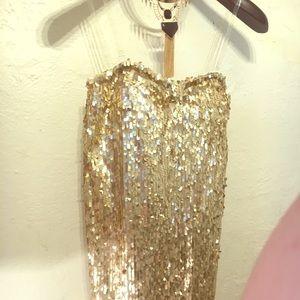 Gold Dress Charlotte Russe